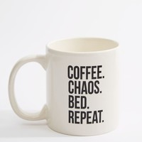 Coffee. Chaos. Bed. Repeat Oversized Mug | Mugs | rue21