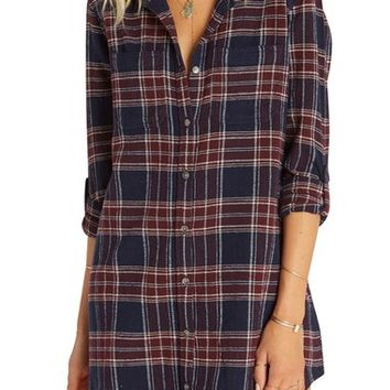 Billabong Winter's Tale Plaid Shirtdress | Nordstrom