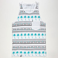 Lira Vacation Mens Tank White  In Sizes