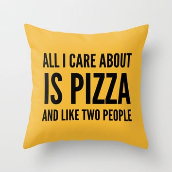 PIZZA & LIKE TWO PEOPLE Throw Pillow by CreativeAngel | Society6