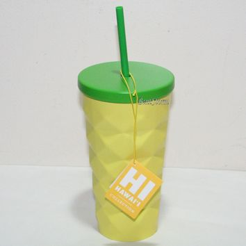 Licensed cool 2016 Starbucks HAWAII 16OZ Metal PINEAPPLE GRANDE TUMBLER COLD CUP  SHIPPING