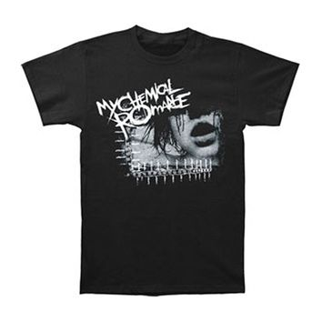 My Chemical Romance Men's  Girls Face 2 T-shirt Black Rockabilia