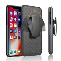 Apple iPhone 11 Pro Max Case, Rugged Slim Rotating Swivel Lock Holster Shell Combo Clip Cover For iPhone 11 Pro Max