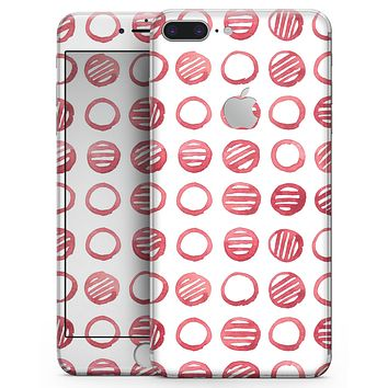 Red Striped Polka Dots - Skin-kit for the iPhone 8 or 8 Plus