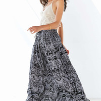 Band Of Gypsies Gauzy Printed Maxi Skirt - Urban Outfitters