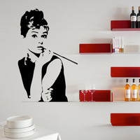 Audrey Hepburn Wall Decal Wall Art 17 x 27 Inches Large