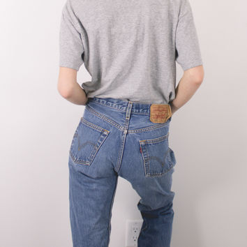 Vintage (SMALL) Levis 501 Button Fly High Waisted Denim Jeans
