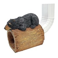 SheilaShrubs.com: Black Bear Gutter Guardian Downspout Statue QM13068 by Design Toscano: Garden Sculptures & Statues