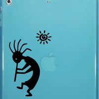 kokopelli Hunchback flute player and Sun Car Window iPad Notebook Decal Sticker