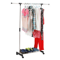 Hot  Straight Rack-Garment Clothes Clothing Laundry Hanger Holder Adjustable Racks New