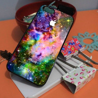 APPLE LOGO GALAXY NEBULA SPACE iPhone Case And Samsung Galaxy Case