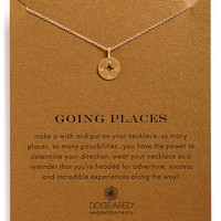 Women's Dogeared 'Going Places' Compass Pendant Necklace
