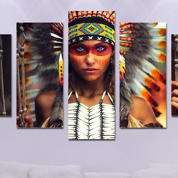 Native American 5 Panel Canvas