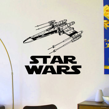 Star Wars X-Wing Star Fighter Wall Decals Vinyl Stickers Home Decor Design Interior Art Mural Boys Room Kids Bedroom Dorm Z778