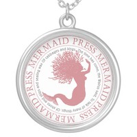 Mermaid Press Rose Silver Plated Necklace