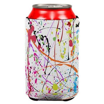 ONETOW Splatter Paint White All Over Can Cooler