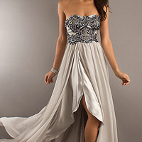 Strapless Silver Dress