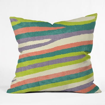 Nick Nelson Fruit Stripes Throw Pillow