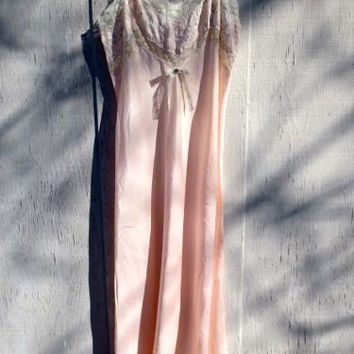 Vintage 1930s Pink Silk Negligee Slip Dress, , Bridal Lingerie, Alternative Wedding, Upcycled Slipdress, Altered Nightgown, FREE SHIPPING