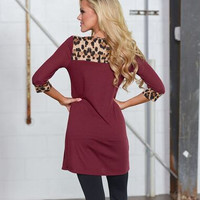 Sleeve Leopard Print Dress