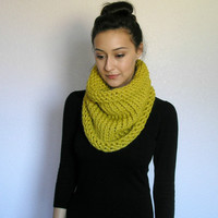 The Clermont, chunky cowl - CITRON