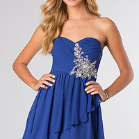 Strapless Short Sweetheart Party Dress by Bee Darlin
