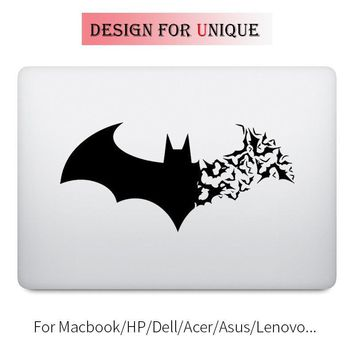 Batman Dark Knight gift Christmas Cracked Batman Symbol Laptop Decal Sticker for Apple Macbook Decal Pro Air Retina 11 12 13 15 inch Vinyl Mac Surface Book Skin AT_71_6