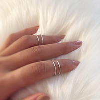 Gift - Silver Twisted Ring,Swirl Ring,Simple Ring,Simple Knuckle Ring,Non tarnish Ring,swirly ring,elegant ring, dainty rings, gypsy jewelry