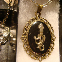 Squid Octopus Victorian Style Necklace (1286)