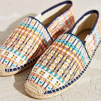 Soludos Metallic Plaid Slip-On Shoe