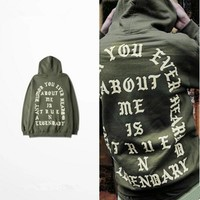 qiyif Hip Hop Hoodies I Feel Like Pablo Hoody Kanye West Hooded Long Sleeve