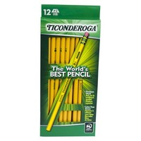 Ticonderoga Yellow Pencils 12-ct