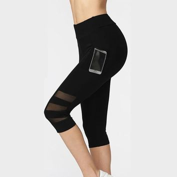 Black Workout Leggings with Phone Pocket
