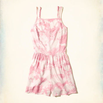 Girls Patterned Strappy Romper | Girls New Arrivals | HollisterCo.com