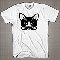 Pussy Milk Mustache  Mens and Women T-Shirt Available Color Black And White