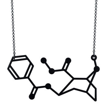 Cocaine Molecule Necklace – Aroha Silhouettes