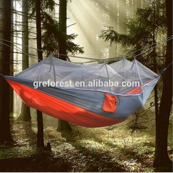 China manufacturer outdoor camping portable hammock with mosquito net