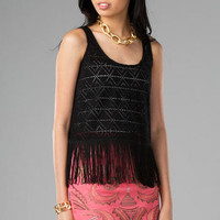 SOUTHWEST FRINGE CROP TOP