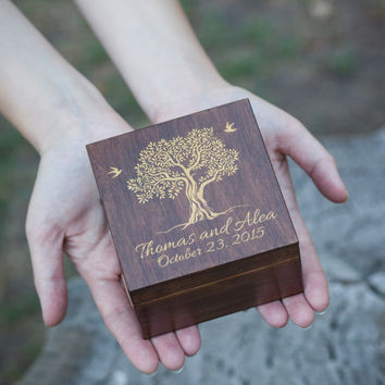 Box For Rings Wedding Ring Box Custom from woodlack on Etsy