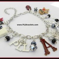 Pretty Little Liars Inspired Charm Bracelet Number 2