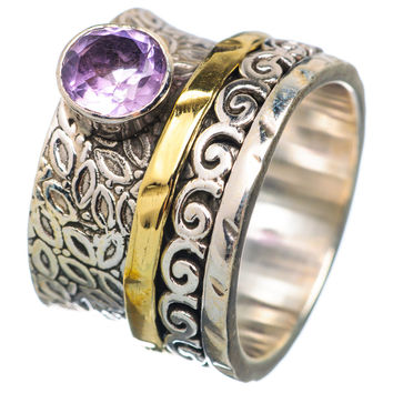 Spinner Ring - Two Tone Amethyst & Bronze