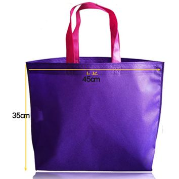 Shopping Bag Foldable eco bag Reusable Grocery Bags Convenient Totes Red Cotton Tote Bag fabric Non-woven fabric BAG006