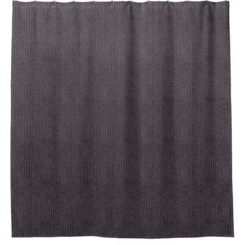 Trendy Modern Abstract Grey Linen Pattern Fabric Shower Curtain