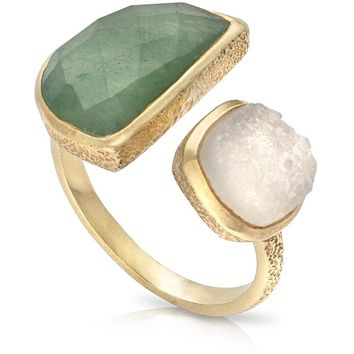 Margo Semi Circle Stone & Druzy Ring | Oliver Bonas