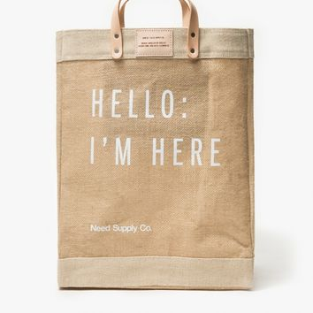 Apolis / Hello: I'm Here Market Bag