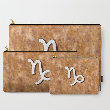 Zodiac sign : Capricorn Carry-All Pouch by Savousepate
