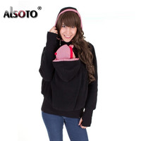 European Style Warm Sweatshirts for Women Hooded Long Sleeve Winter Outerwear Plus Size Fake Two Hoodies Sudaderas Mujer