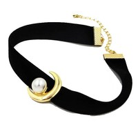Mew Women Sailor Moon Inspired Pendant Necklace Choker Chains Charm Black Leather Cord