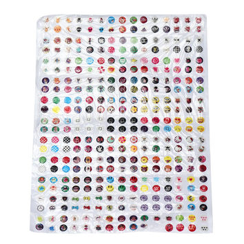 2017 Universal 330pcs Love Cute Cartoon Rubber Home Button Sticker for Iphone 5 5s 6 6s 7 Plus for Ipad IOS Mobile phone