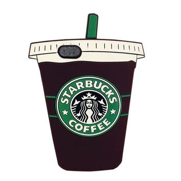 3D Cartoon Silicon Starbuck Coffee Cup Phone Cases For iPhone For Samsung Galaxy.